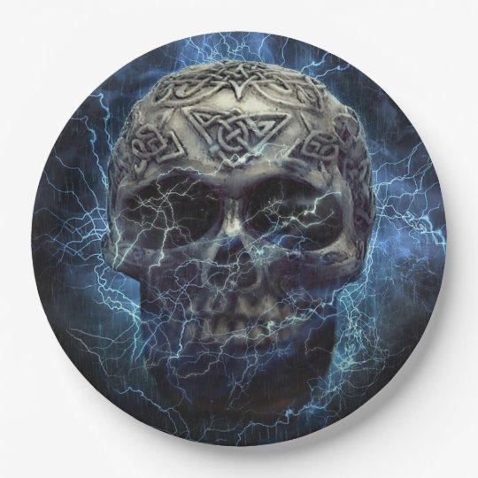 Creepy Skull Paper Plate