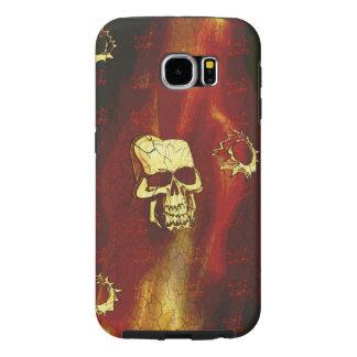 Creepy skull phone case