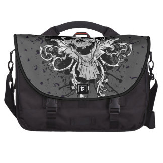 Creepy Skull With Top Hat Bag For Laptop