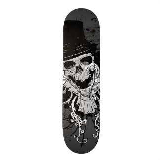 Creepy Skull With Top Hat Skate Boards