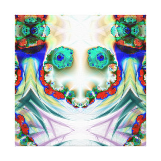 Creepy Snowman Smiling  Wrapped Canvas Stretched Canvas Print