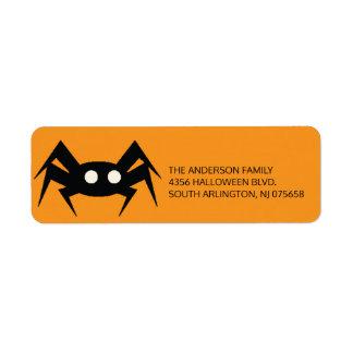 Creepy Spider Halloween Return Address Label