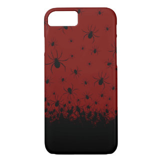Creepy spider infested blood red phone case