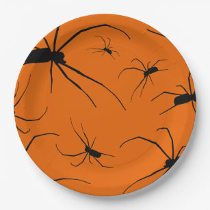 Creepy Spider Paper Plate