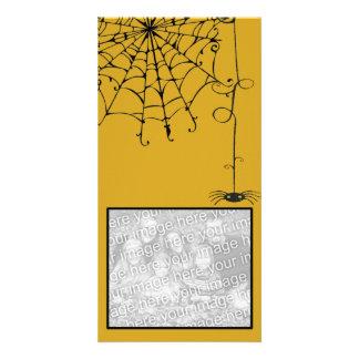 Creepy Spider Photo Card Template