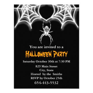 Creepy Spider Web Invitation Card Template