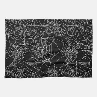 Creepy Spider Webs Tea Towel
