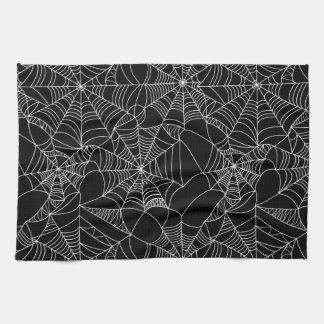 Creepy Spider Webs Tea Towels