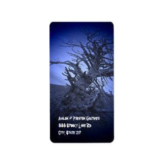 Creepy Tree Night Halloween Return Address Labels
