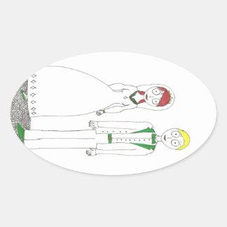 Creepy Wedding Irish Oval Sticker