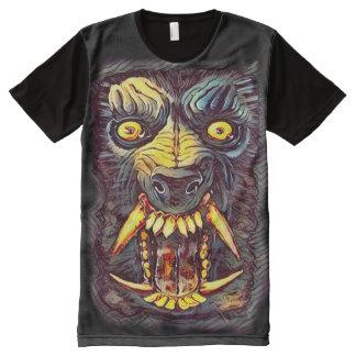 Creepy Werewolf Dark Horror Art All-Over Print T-Shirt