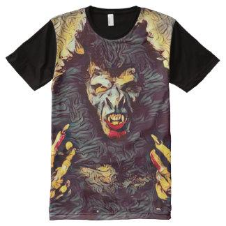 Creepy Werewolf Hybrid Dark Horror Art All-Over Print T-Shirt