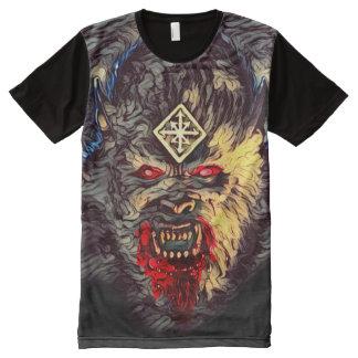 Creepy Werewolf Monster Dark Horror Art All-Over Print T-Shirt