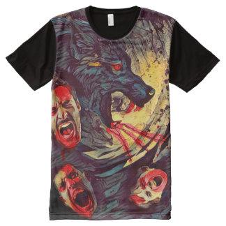 Creepy Werewolf Nature of Beast Dark Horror Art All-Over Print T-Shirt