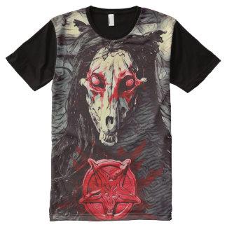Creepy Wraithe Werewolf Servitor Dark Horror Art All-Over Print T-Shirt