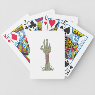 Creepy Zombie Haind Rising Bicycle Playing Cards