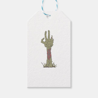 Creepy Zombie Haind Rising Gift Tags