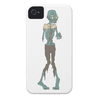 Creepy Zombie Wearing Tie With Rotting Flesh Outli Case-Mate iPhone 4 Case