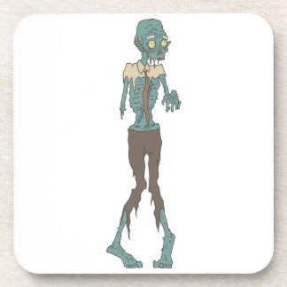 Creepy Zombie Wearing Tie With Rotting Flesh Outli Coaster