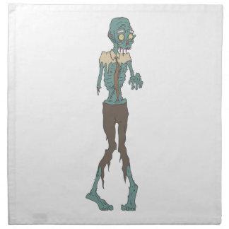 Creepy Zombie Wearing Tie With Rotting Flesh Outli Napkin