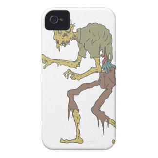 Creepy Zombie With Melting Skin With Rotting Flesh Case-Mate iPhone 4 Case
