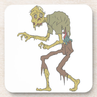Creepy Zombie With Melting Skin With Rotting Flesh Coaster