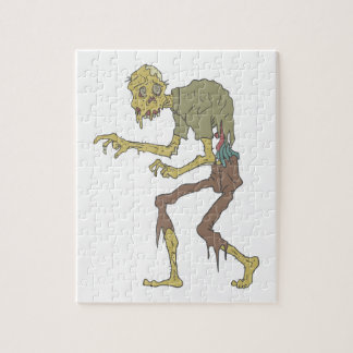 Creepy Zombie With Melting Skin With Rotting Flesh Jigsaw Puzzle