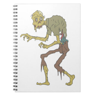 Creepy Zombie With Melting Skin With Rotting Flesh Notebook