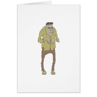 Creepy Zombie With Stitched Eyes With Rotting Card