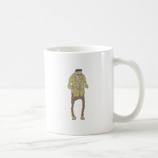 Creepy Zombie With Stitched Eyes With Rotting Coffee Mug