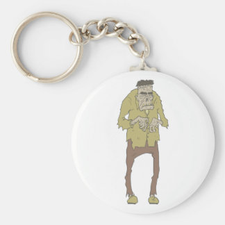 Creepy Zombie With Stitched Eyes With Rotting Key Ring