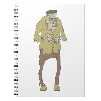 Creepy Zombie With Stitched Eyes With Rotting Notebook