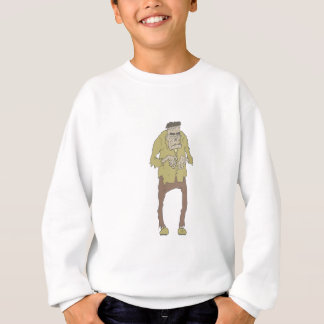Creepy Zombie With Stitched Eyes With Rotting Sweatshirt
