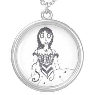 Creey Princess Round Pendant Necklace