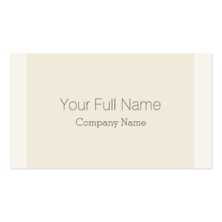 Crema color pack of standard business cards