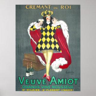 Cremant du Roi Vintage Champagne Advertisement Poster