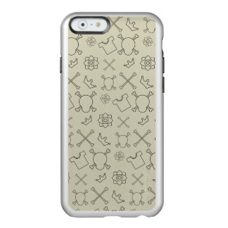 Creme brulee Skull and Bones pattern Incipio Feather® Shine iPhone 6 Case