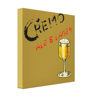Cremo Ale & Lager Beer Canvas Print