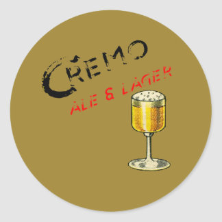 Cremo Ale & Lager Beer Classic Round Sticker