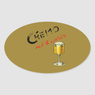 Cremo Ale & Lager Beer Oval Sticker