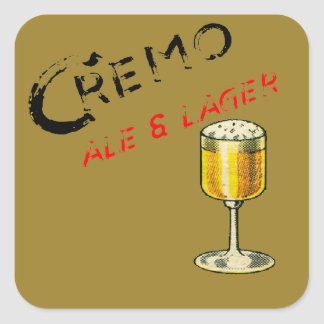 Cremo Ale & Lager Beer Square Sticker
