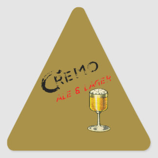 Cremo Ale & Lager Beer Triangle Sticker