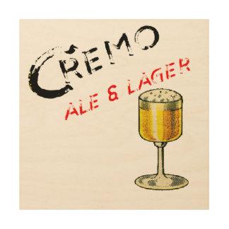 Cremo Ale & Lager Beer Wood Print