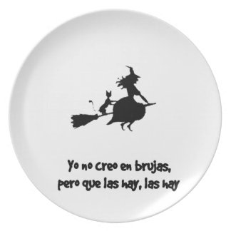 CREO EN WOOLS BRUJAS not I DO NOT BELIEVE WITCHES Dinner Plates