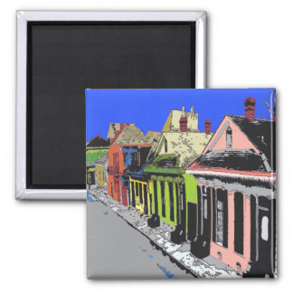 Creol Cottage New Orleans French Quarter Magnet