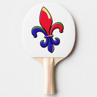 Creole Fleur de Lis Ping Pong Paddle