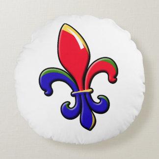 Creole Fleur de Lis Round Pillow