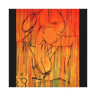 creole rain orange - by Nazaire Canvas Print