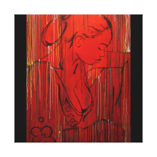 creole rain red by Nazaire Canvas Print