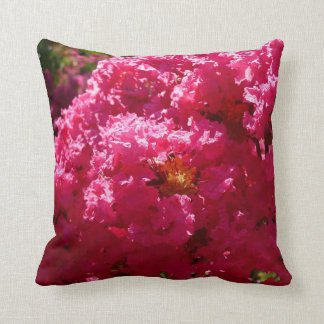 Crepe Myrtle Tree Magenta Flowers Cushion